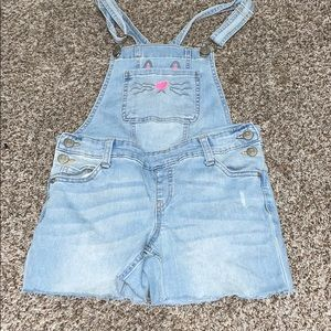 Girls justice short overalls